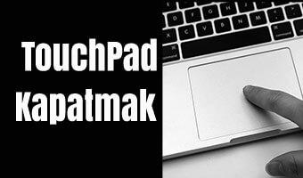 touchpad-kapatmak