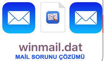 Winmail.Dat Uzantılı E-posta Gönderme Hatası Çözümü