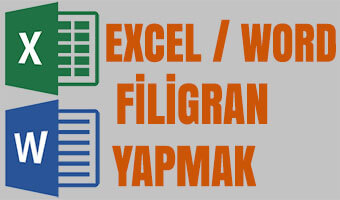 excel-word-filigran-yapmak