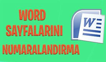 word-sayfa-numaralandirmak